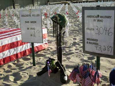Arlington West Soldiers Killed JPG